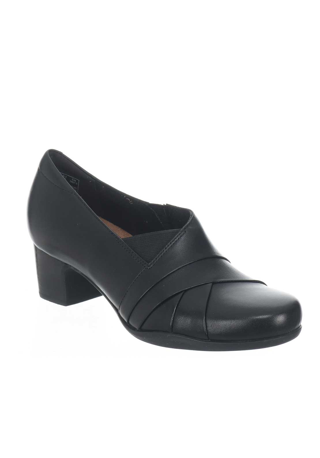 Clarks Womens Rosalyn Adele Leather Shoes, Black