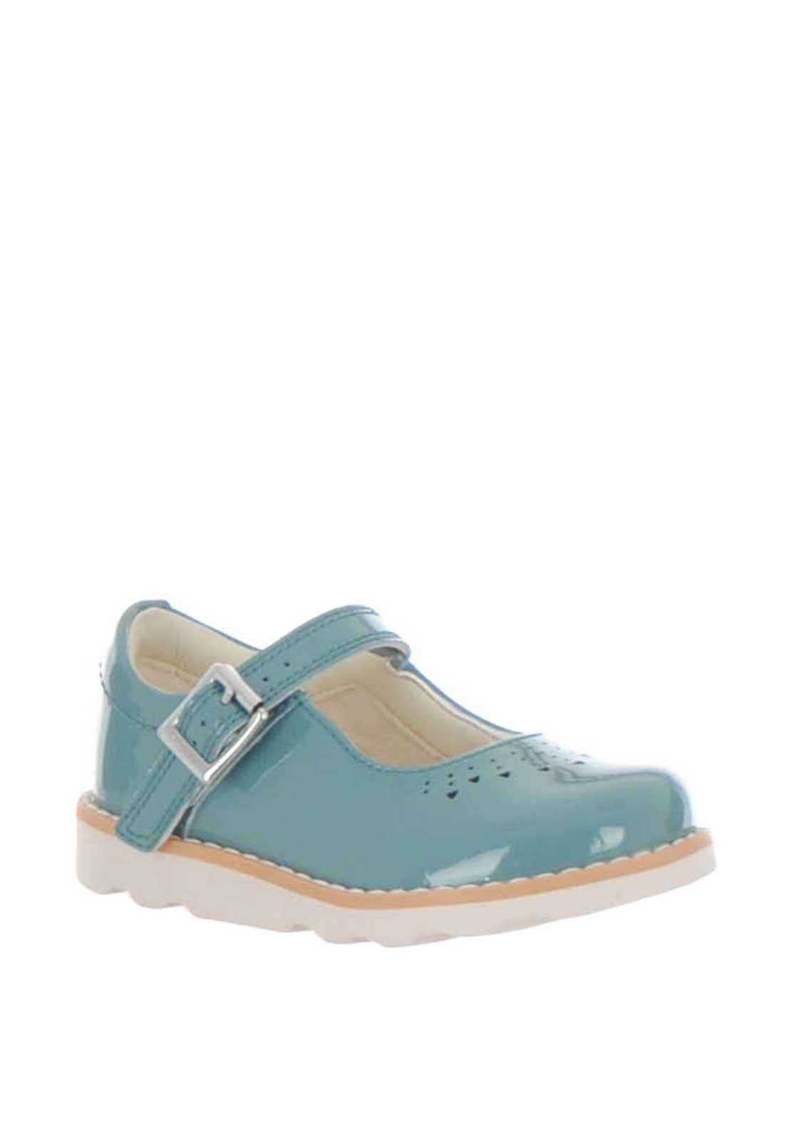 b86c25ad1d4a Clarks Baby Girls Crown Jump Patent Leather Shoes