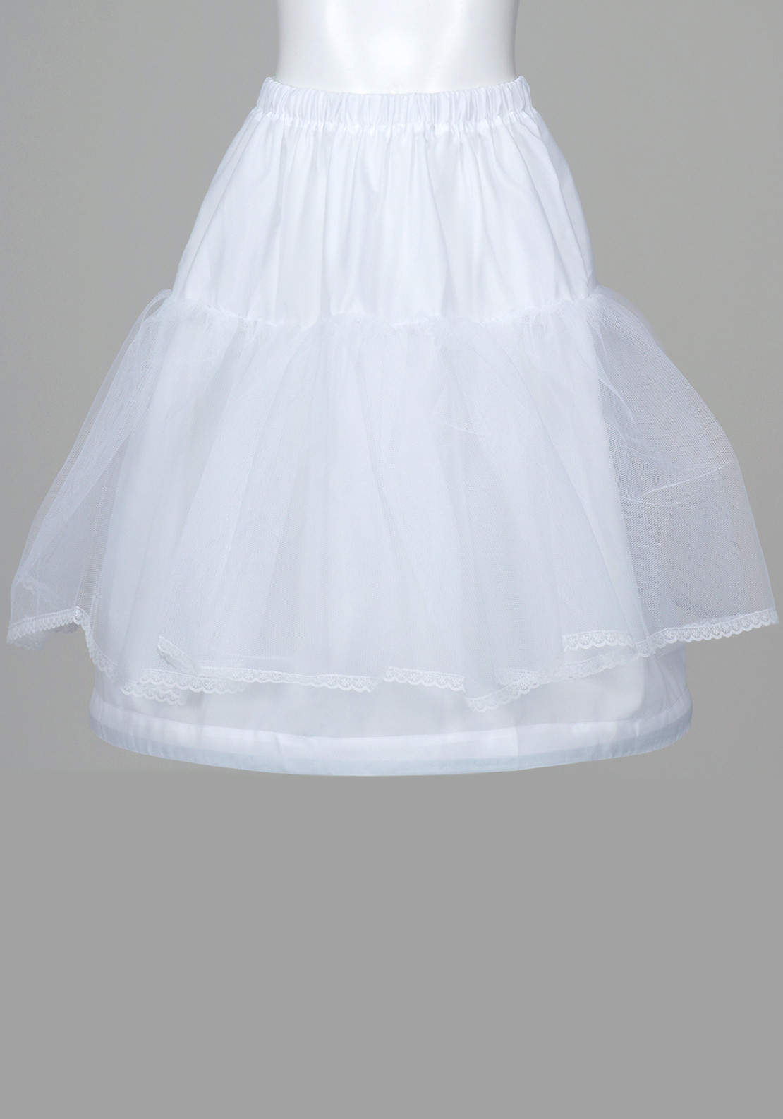 Linzi Jay Communion Net and Hoop Underskirt, White