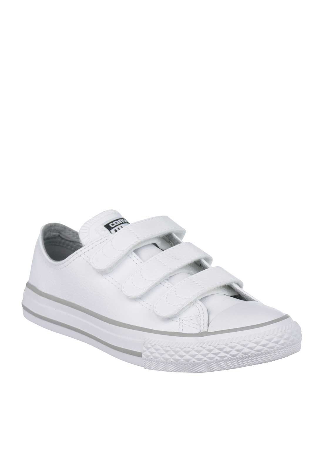 Converse Kids All Star Leather Trainers, White
