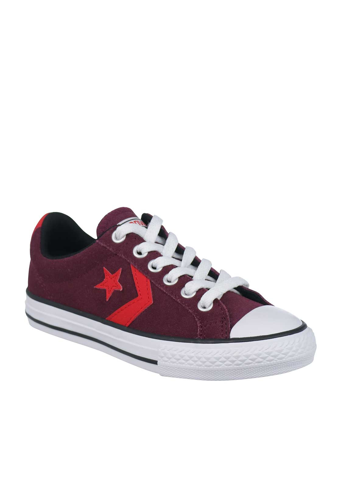 Converse Kids Cons Star Player Suede Trainers, Wine