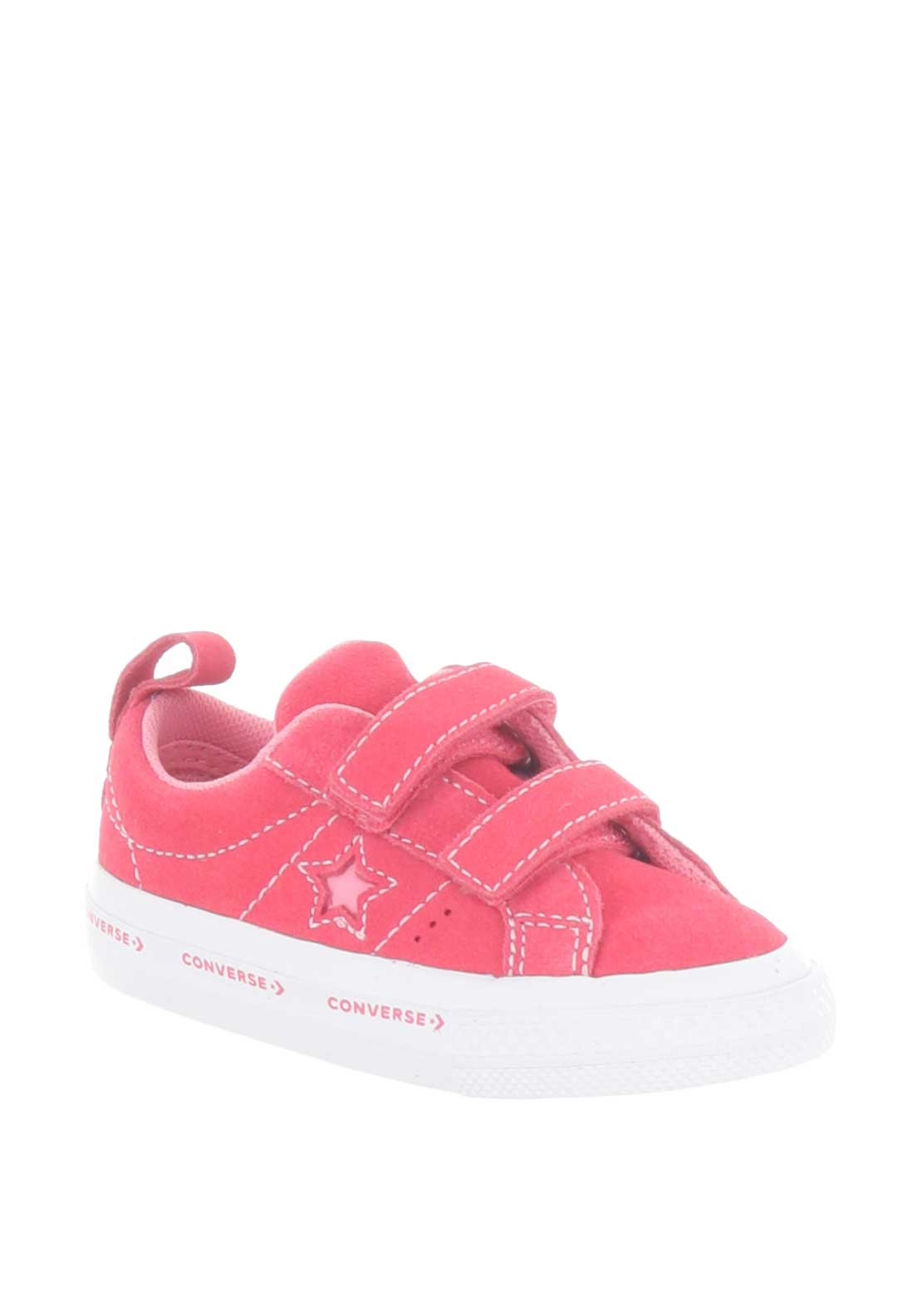 Converse Baby Girls One Star Suede Trainers, Pink