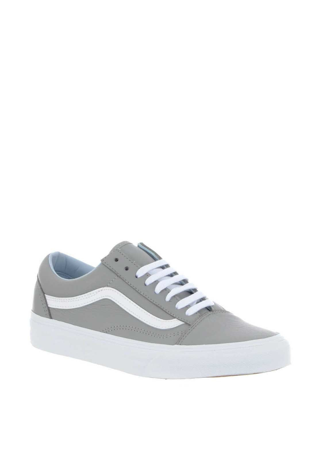 0f21385dd78aa Vans Womens Old Skool Leather Trainers, Grey. Be the first to review this  product