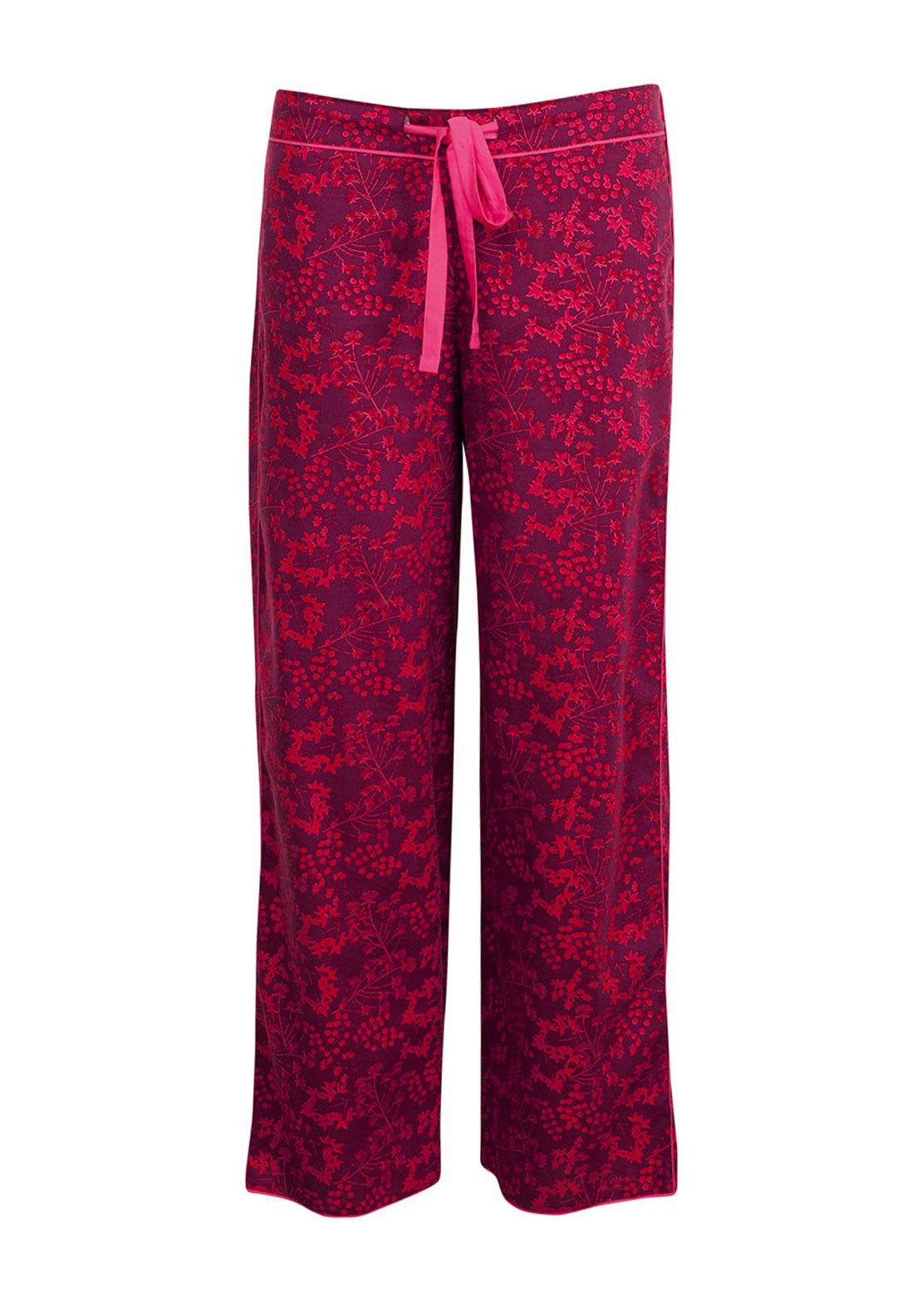 Cyberjammies Deck The Halls Printed Pyjama Bottoms, Wine