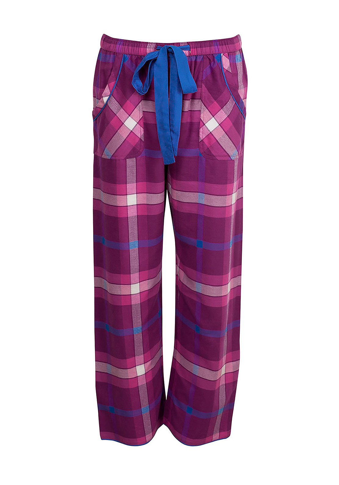Cyberjammies Magenta Madness Checked Pyjama Bottoms, Magenta Pink