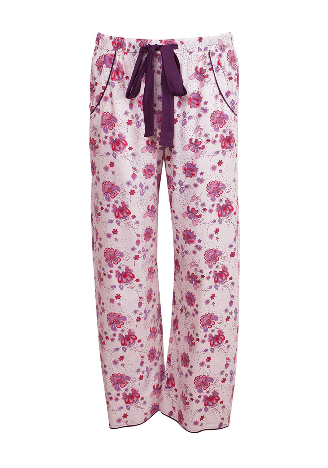 Cyberjammies Purple Haze Pyjama Bottoms, Cream