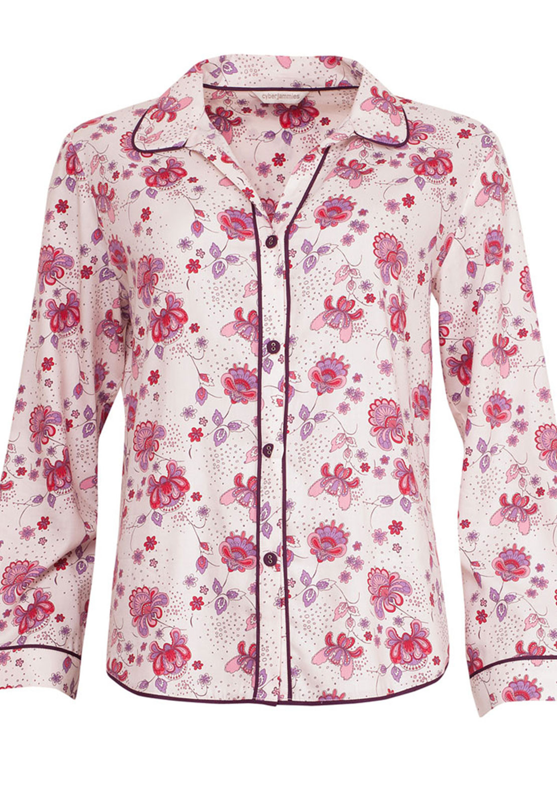Cyberjammies Purple Haze Pyjama Top, Cream