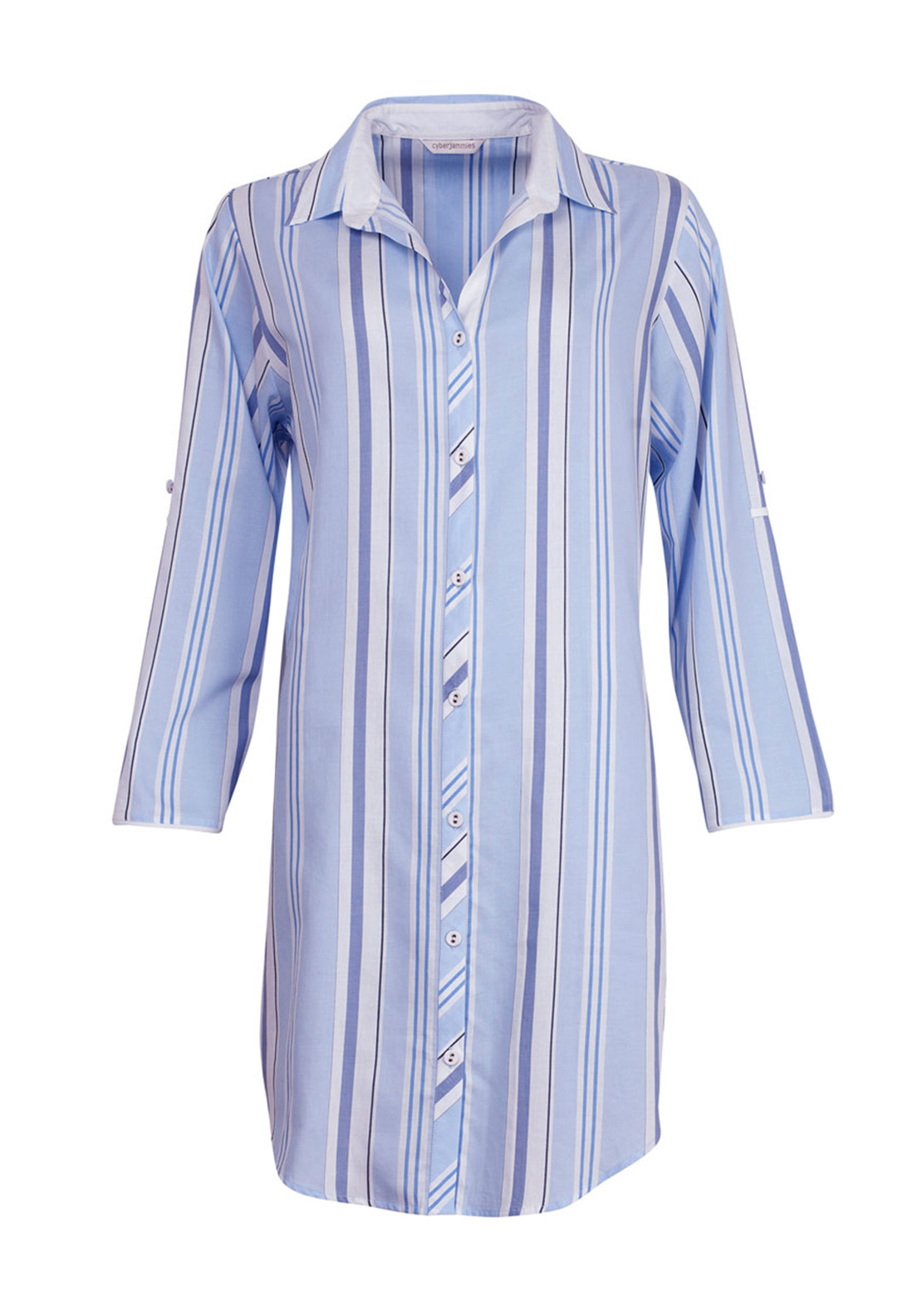 Cyberjammies Porcelain Doll Striped Night Shirt, Blue