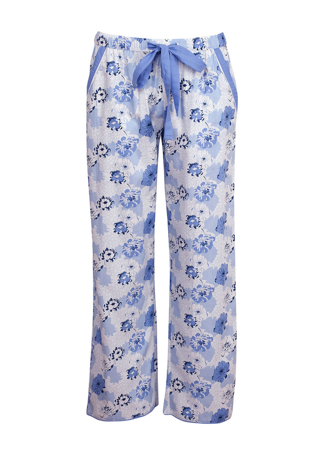 Cyberjammies Porcelain Doll Floral Print Pyjama Bottoms, Blue