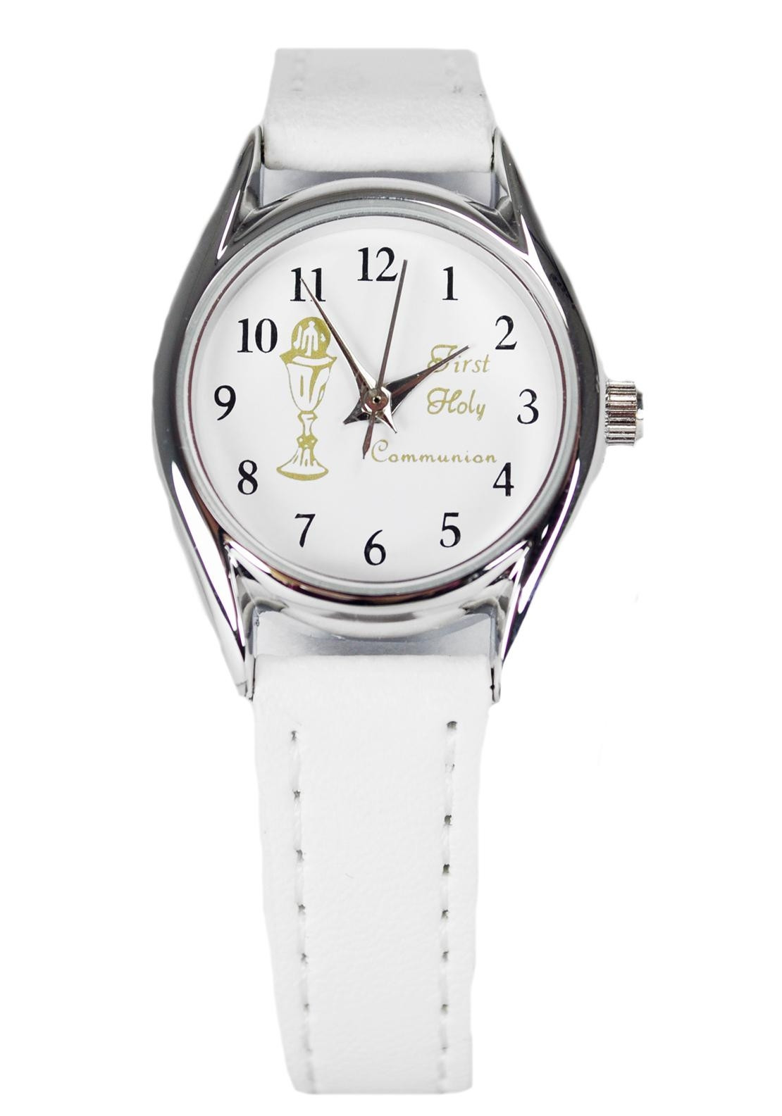 D'alton My First Holy Communion Watch, White & Silver