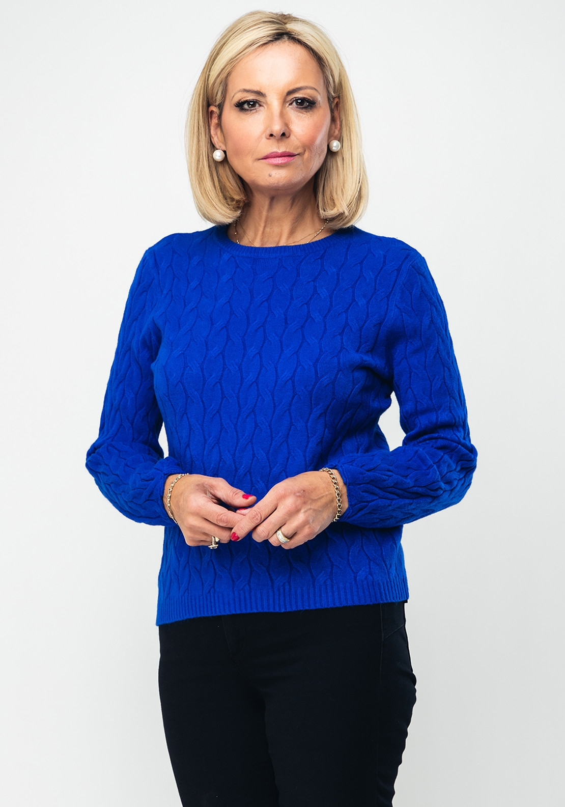 high fashion wide selection of designs wide selection of colors d.e.c.k. by Decollage Cable Knit Jumper, Royal Blue