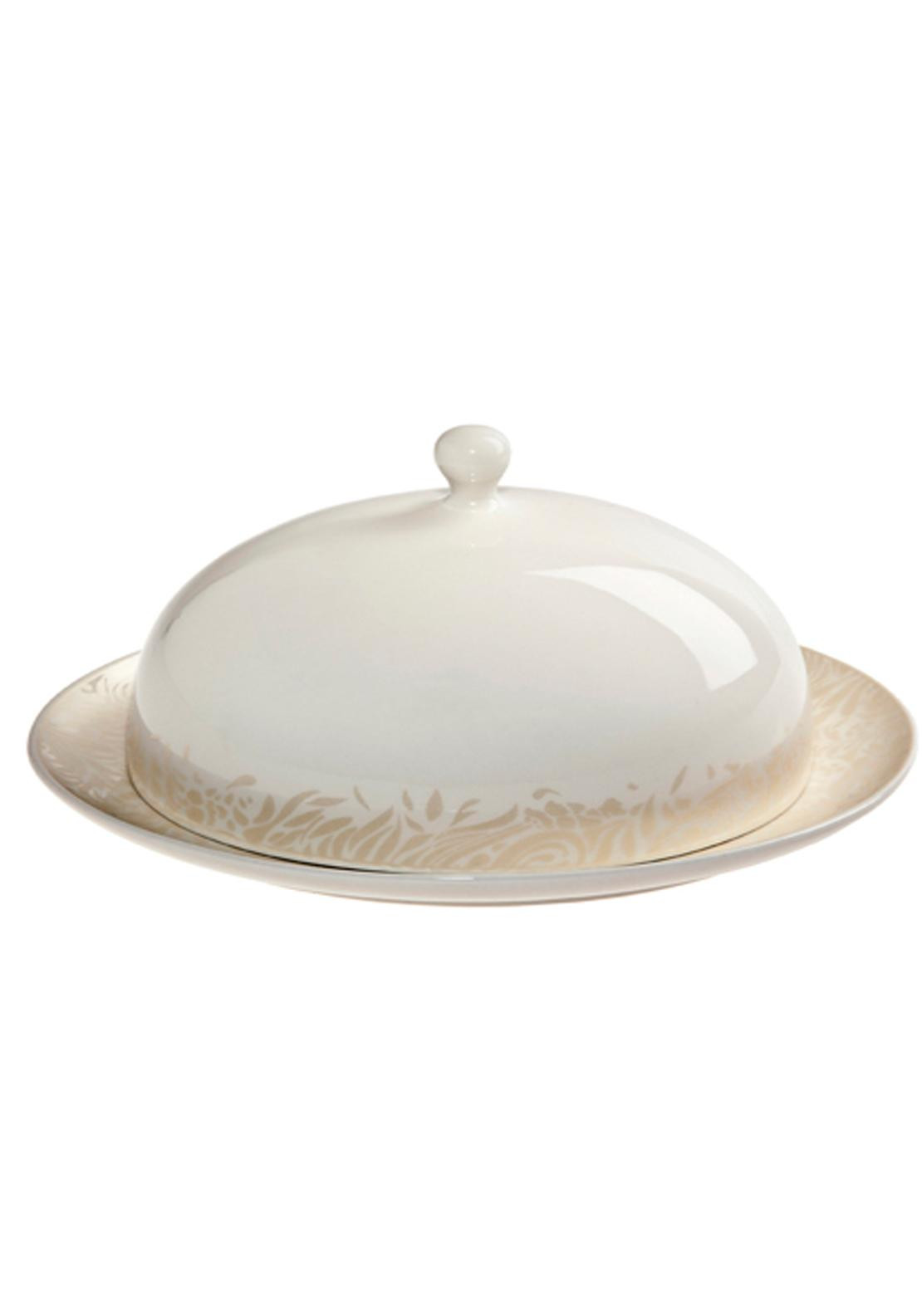 Denby Monsoon Lucille Gold Butter Dish