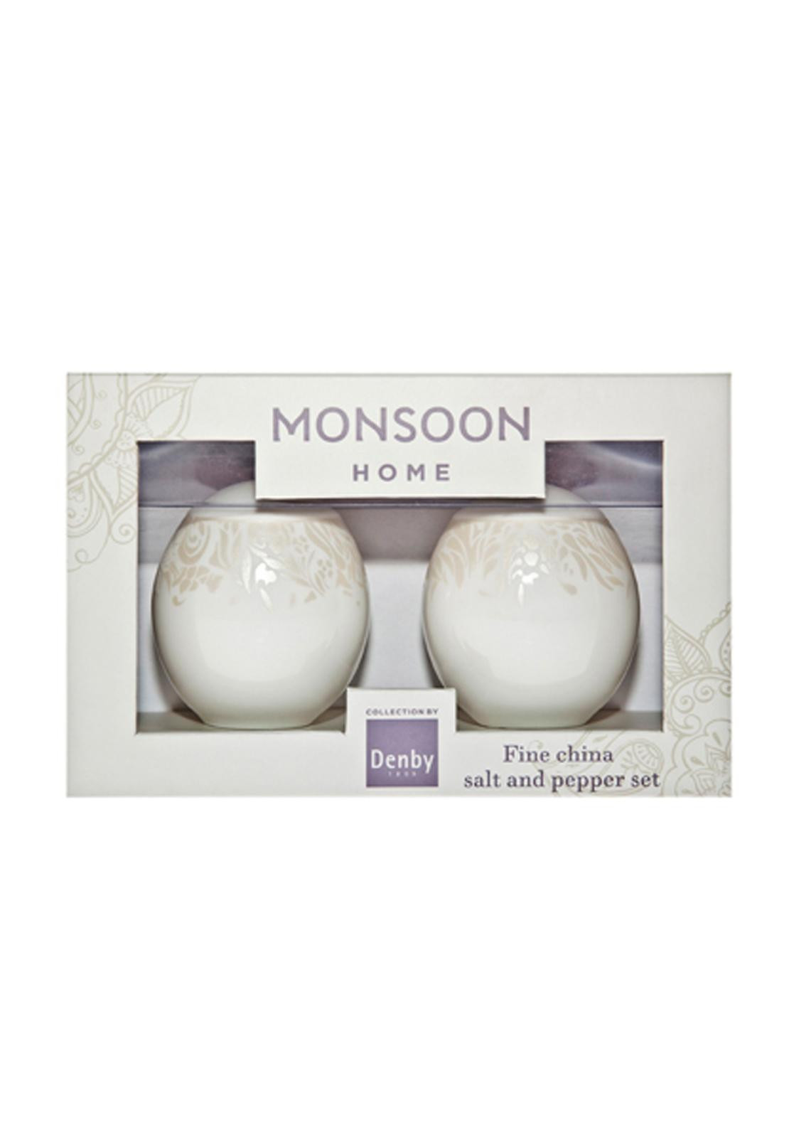 Denby Monsoon Lucille Gold Salt & Pepper Set