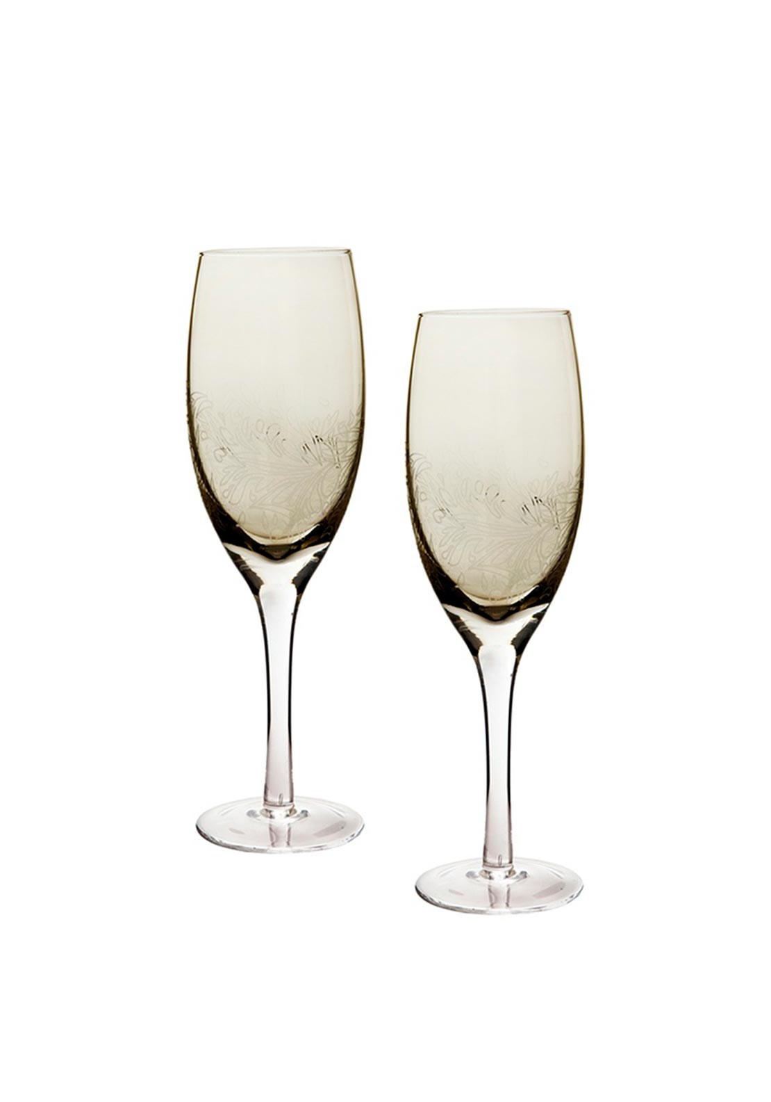 Denby Monsoon Home Two White Wine Glasses