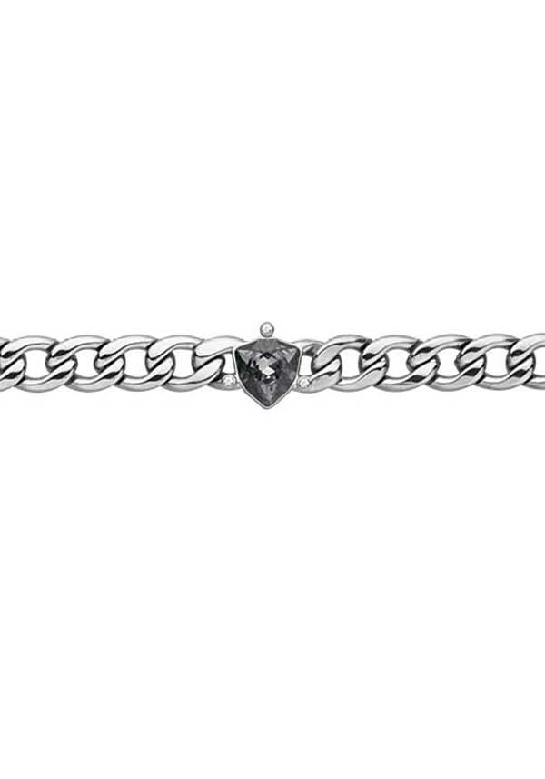 Dyrberg Kern Stainless Steel Trillionia with Crystals, Grey