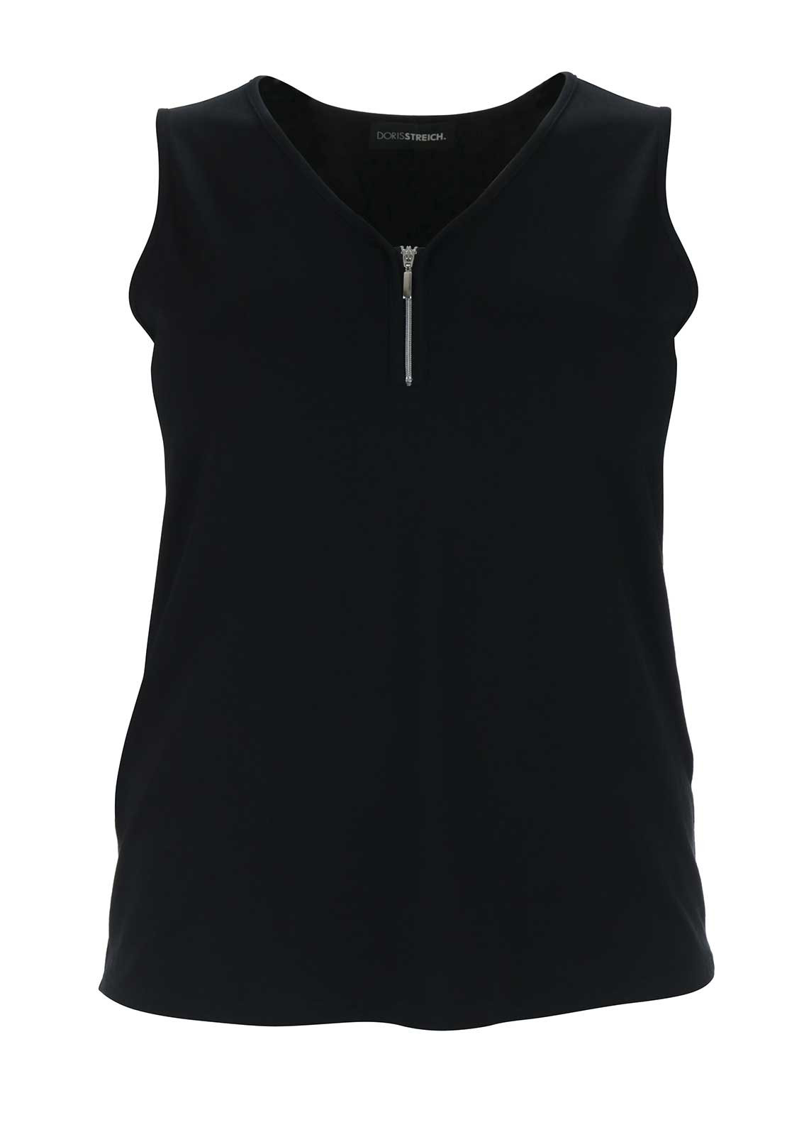 Doris Streich Sleeveless Jersey Top, Black