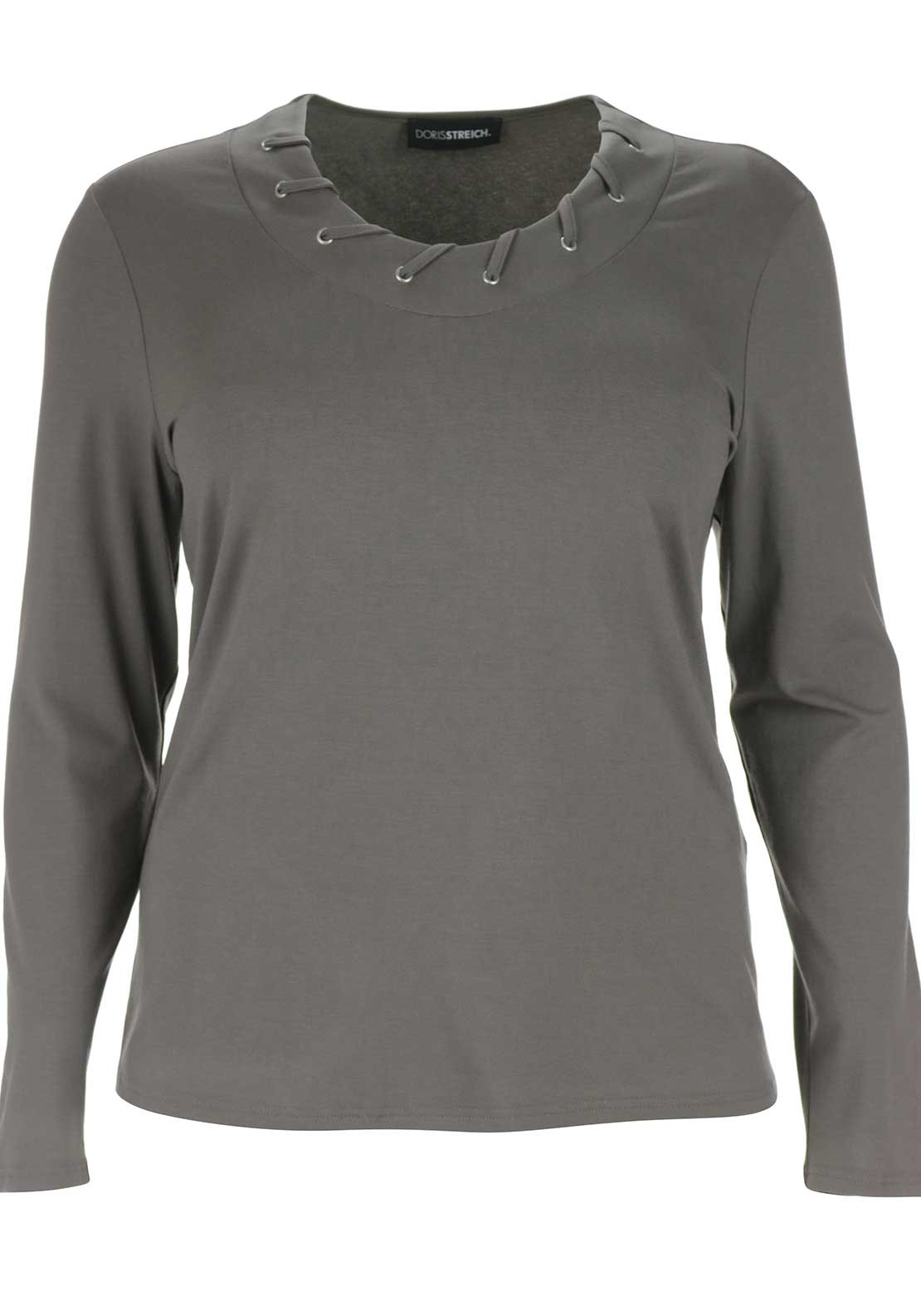 Doris Streich Long Sleeve Top, Taupe