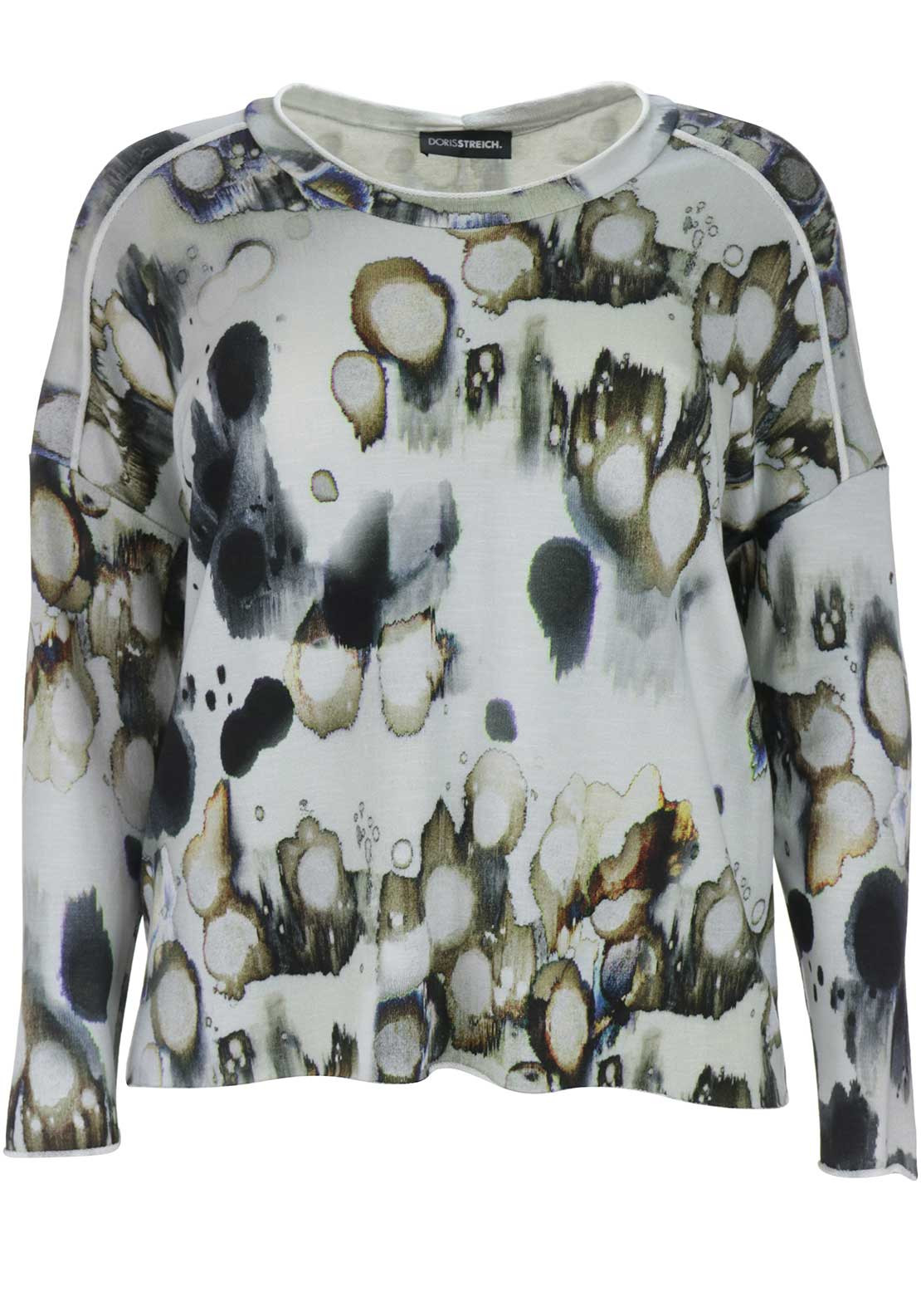 Doris Streich Abstract Print Jumper, Grey Multi