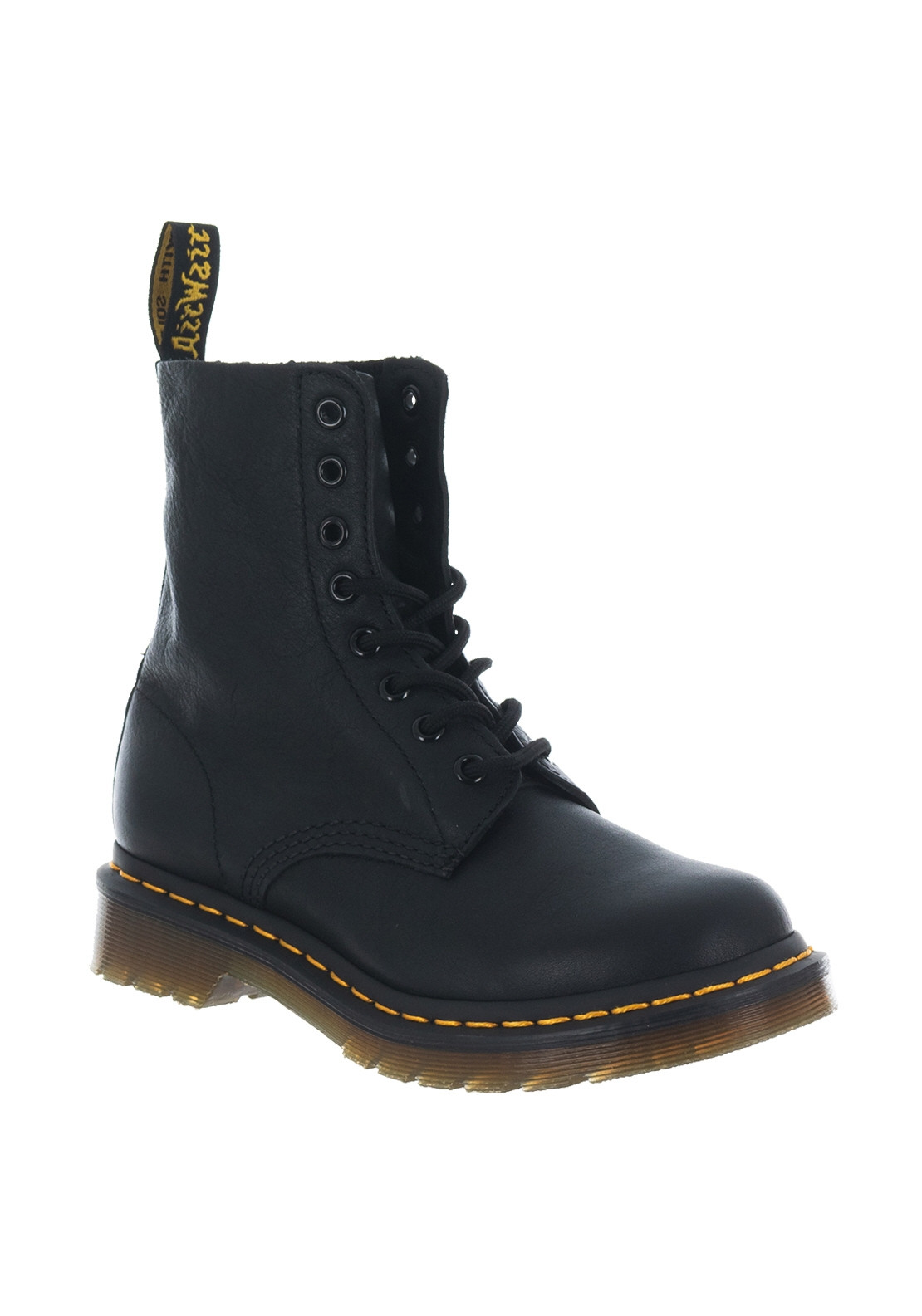 Dr. Martens Womens Pascal Leather Boots, Black