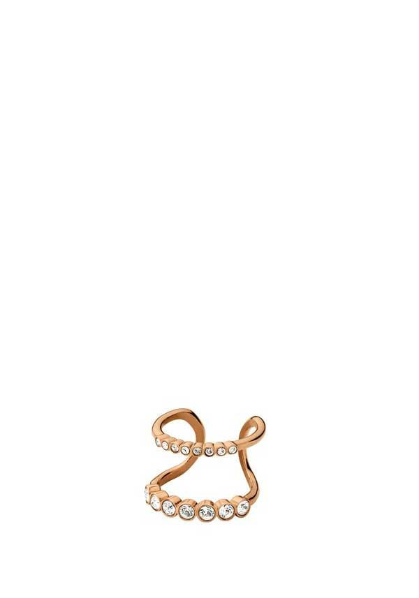 Dyrberg Kern Emelia Rose Gold Plated Crystal Ring