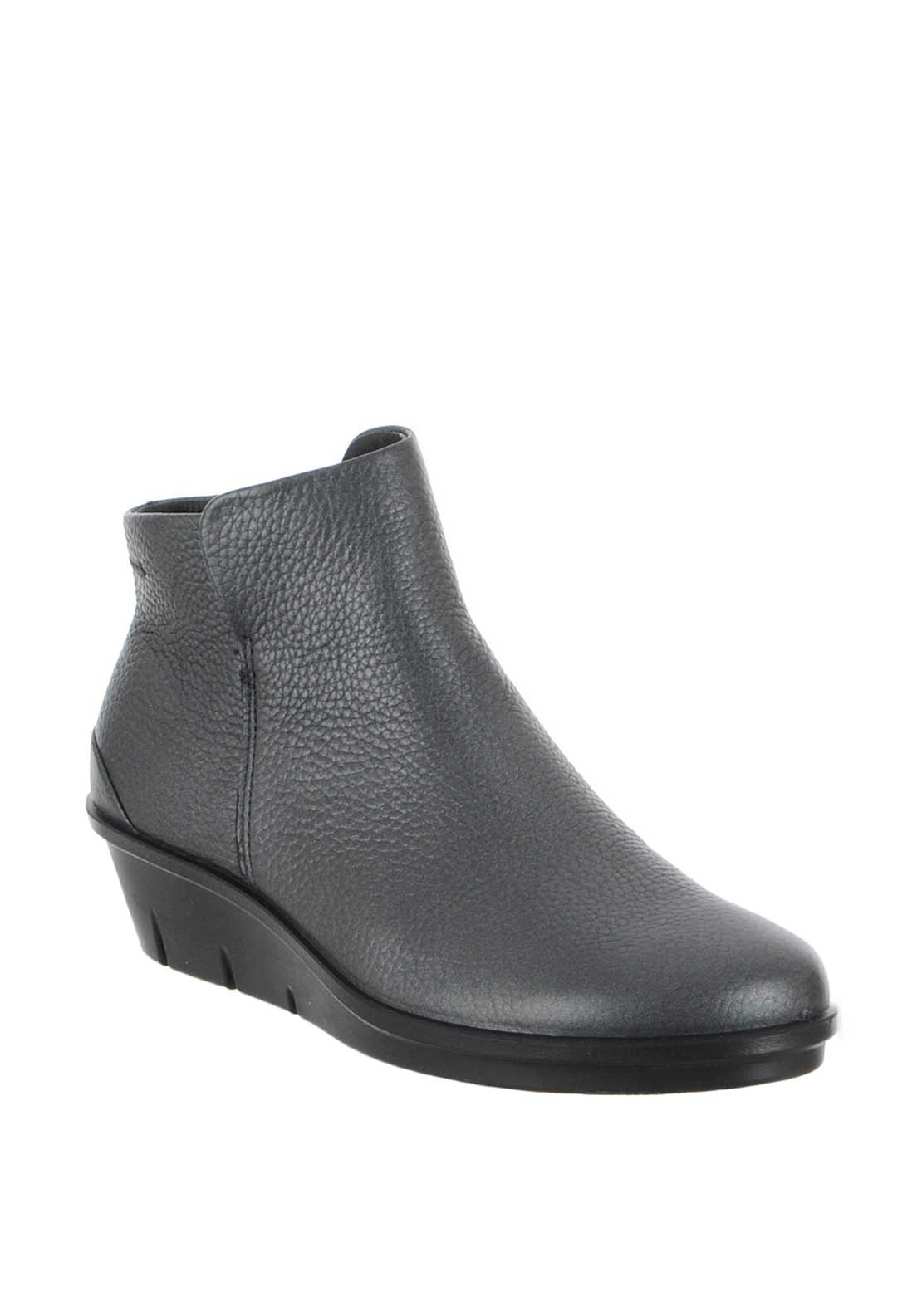 Ecco Womens Skylar Leather Ankle Boots, Grey