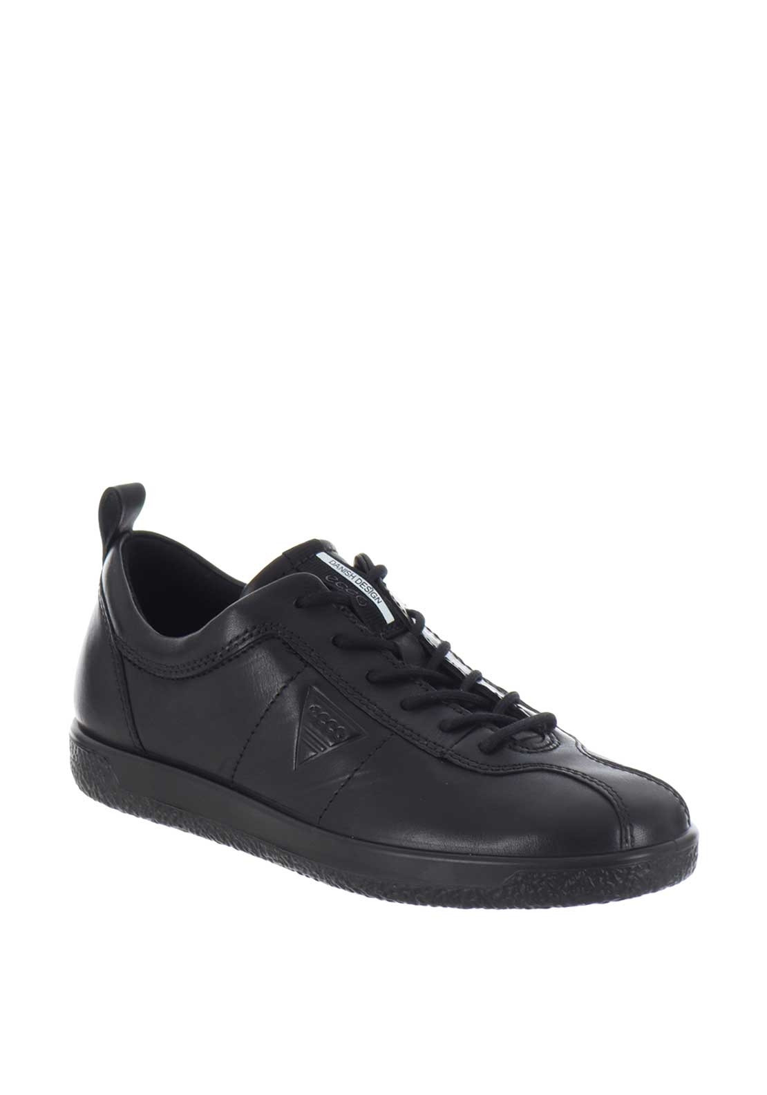 9349ab1617 Ecco Womens Leather Soft 1 Comfort Shoes, Black