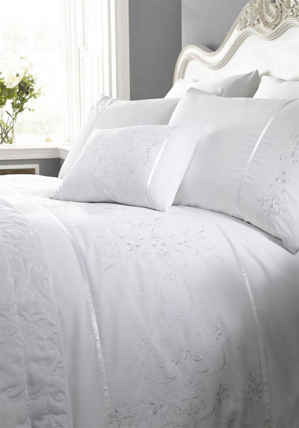 Eleanor James Sutton Duvet Set, White