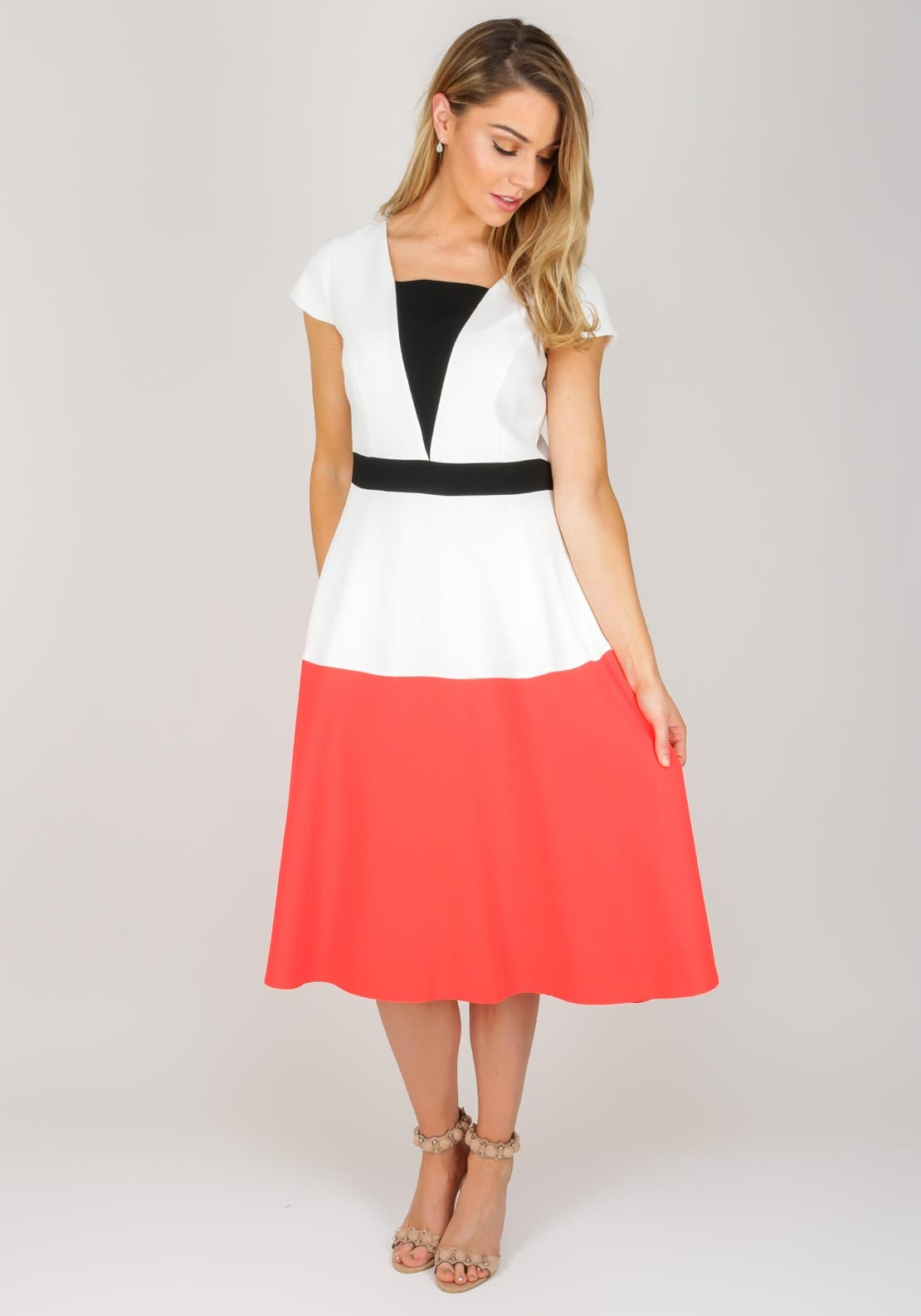 e56a3eea6 Ella Boo Colour Block Flared Dress