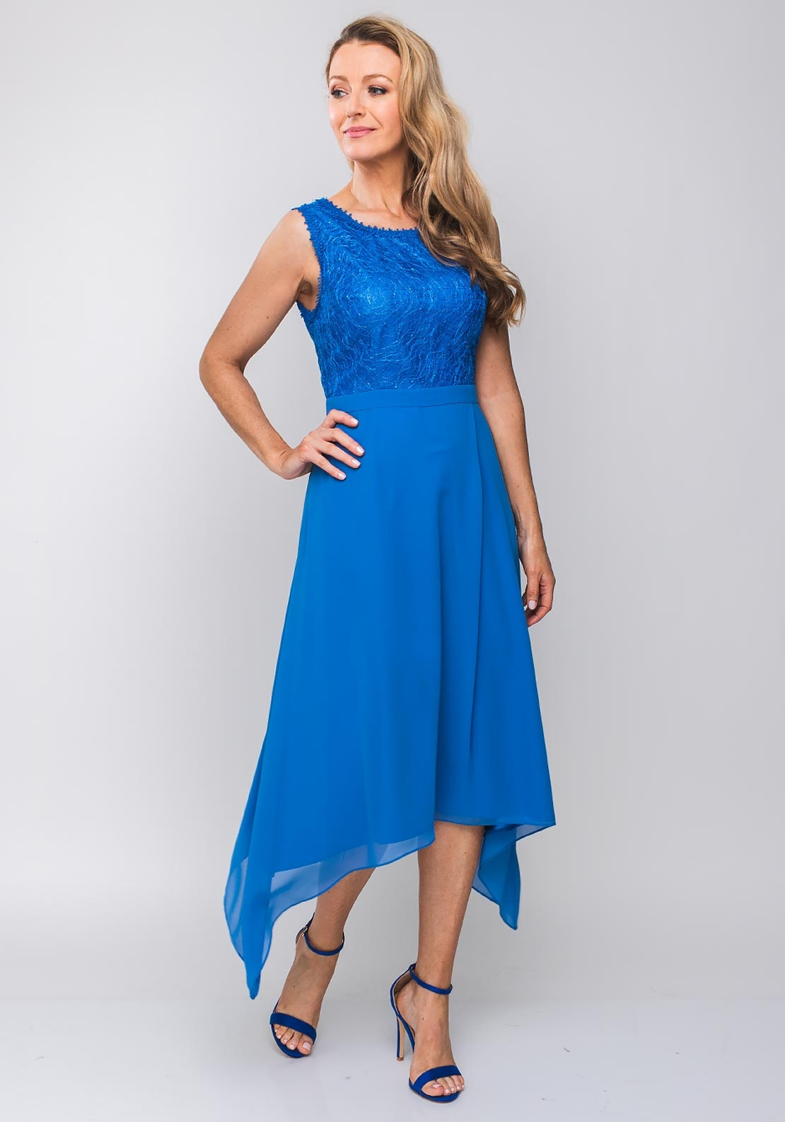 41f7f91d2df47 Ella Boo Embroidered Bodice Flared Dress, Blue. Be the first to review this  product