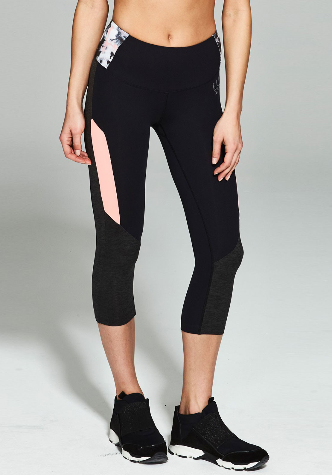 Elle Sport Fortitude Performance Capri, Navy