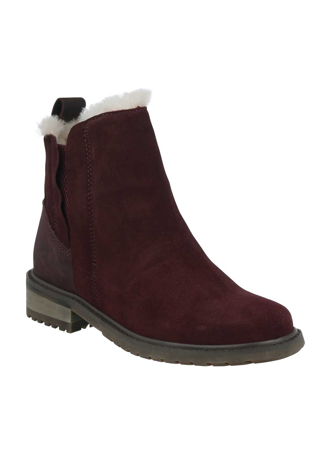 EMU Australia Pioneer Suede Ankle Boots, Wine