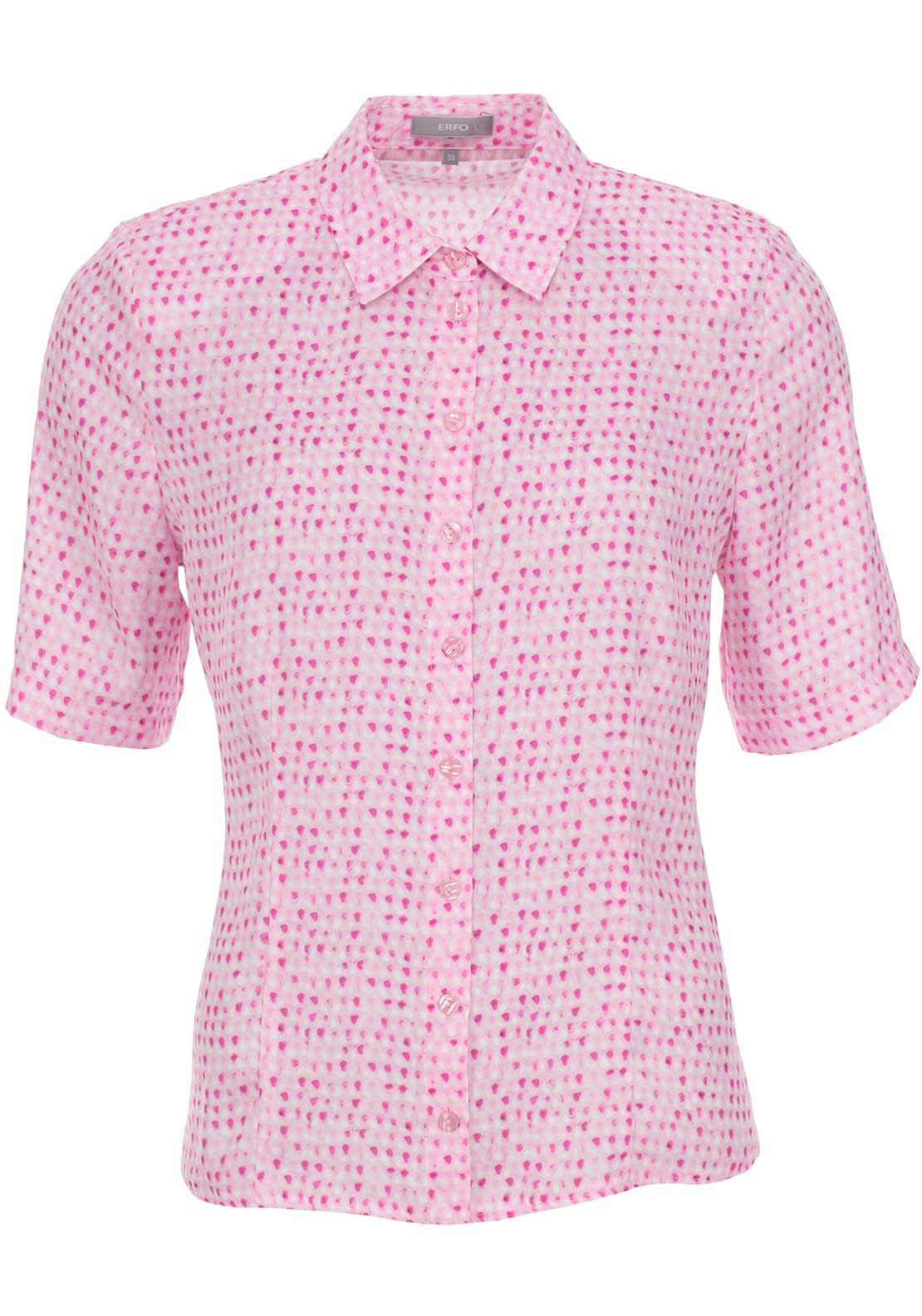 ERFO Printed Short Sleeve Blouse, Pink
