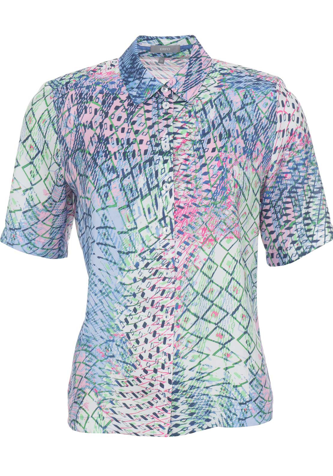 ERFO Abstract Print Blouse, Multi-Coloured