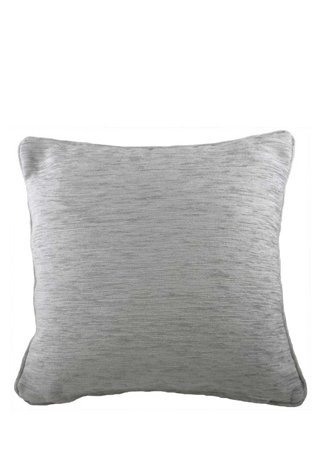 Savannah Chenille Cushion, 43 x 43cm, Grey