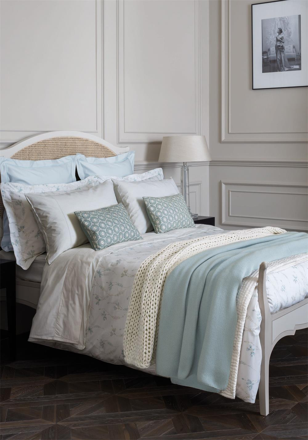 Fable Kassia Duvet Cover, Duck Egg