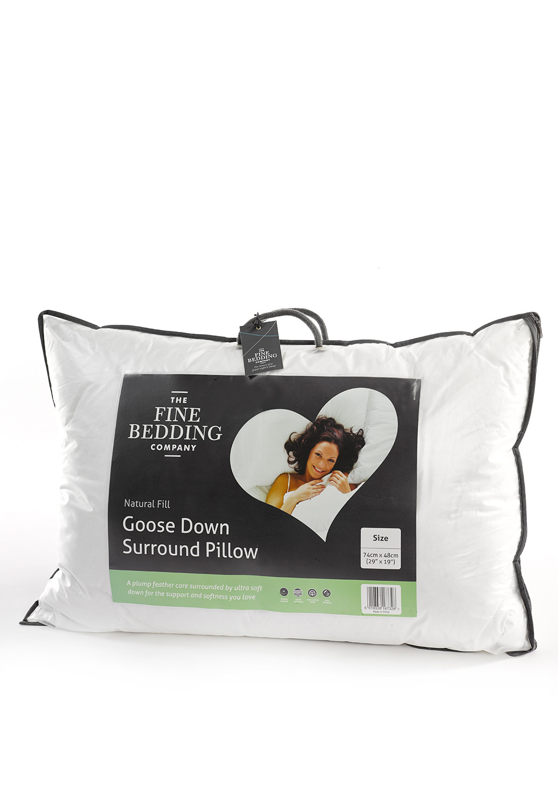 The Fine Bedding Company Goose Down Surround Pillow