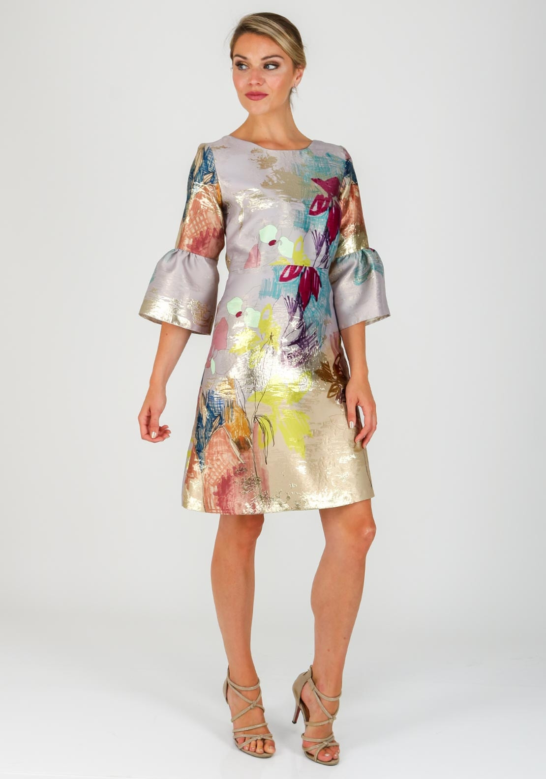 Fee G Abstract Floral Dress Multi Coloured Mcelhinneys