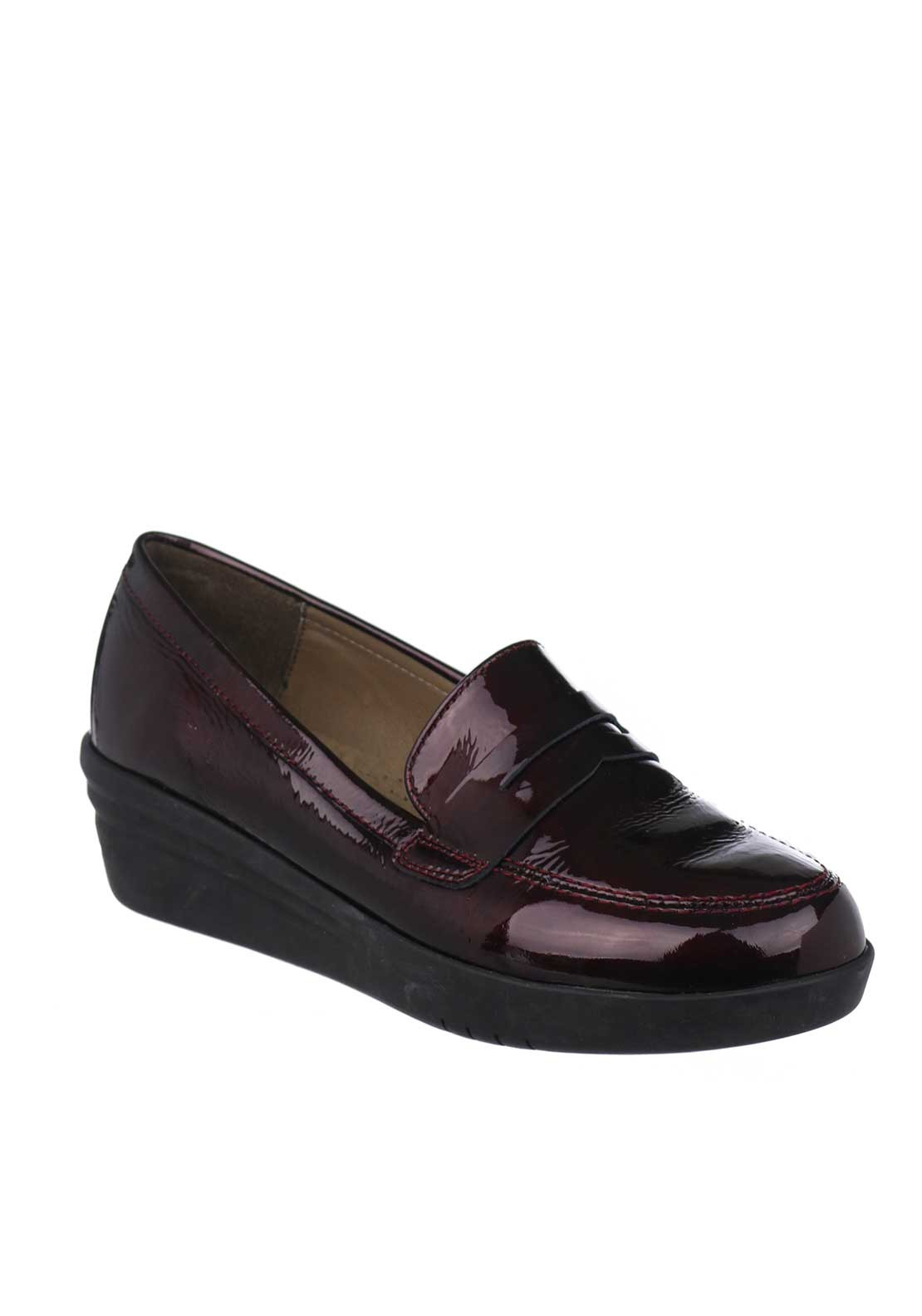 Flex & Go Giovana Patent Leather Shoes, Wine