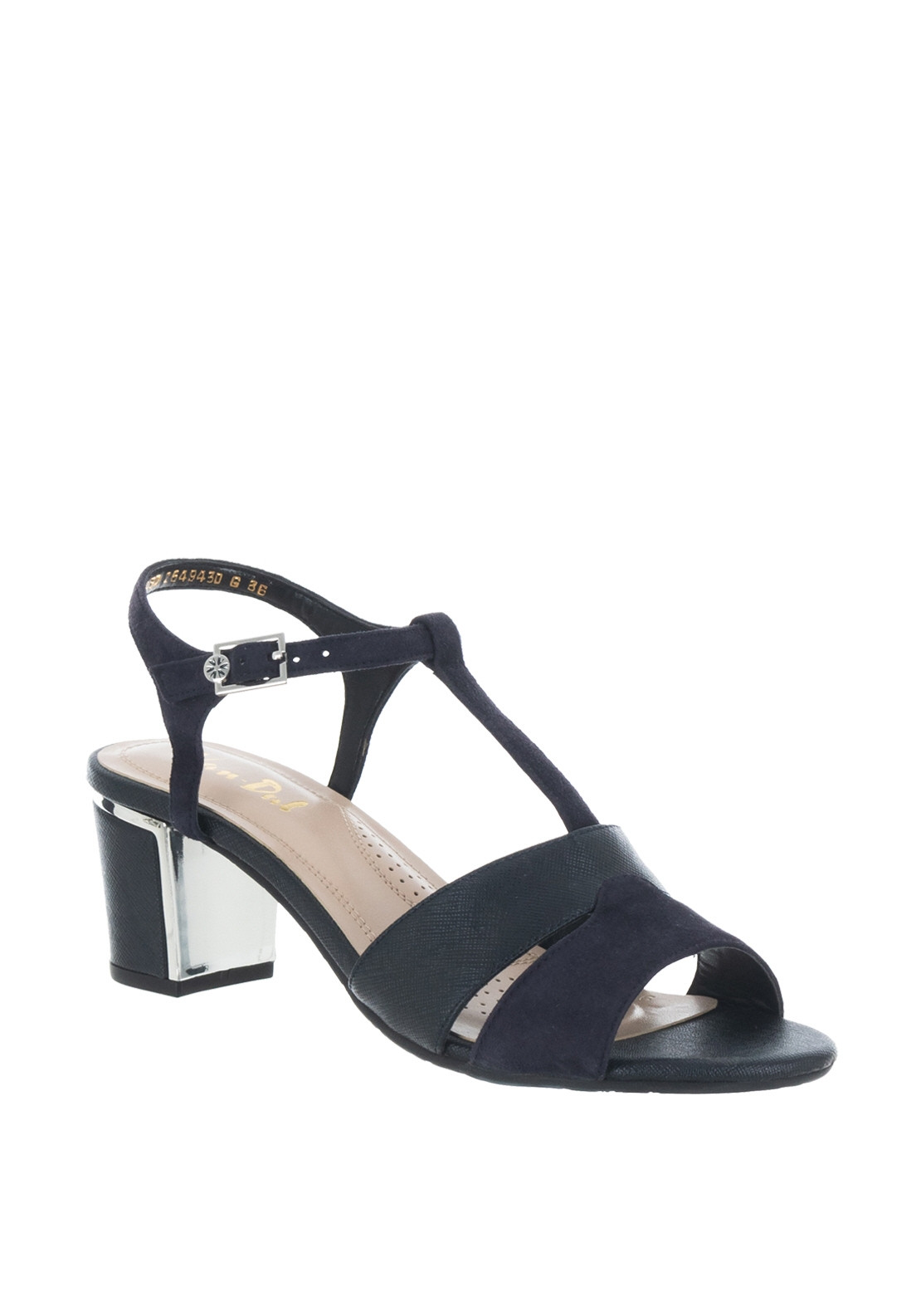 6a9cedca Van Dal Forester Suede Shimmer Block heel Sandals, Navy. Be the first to  review this product