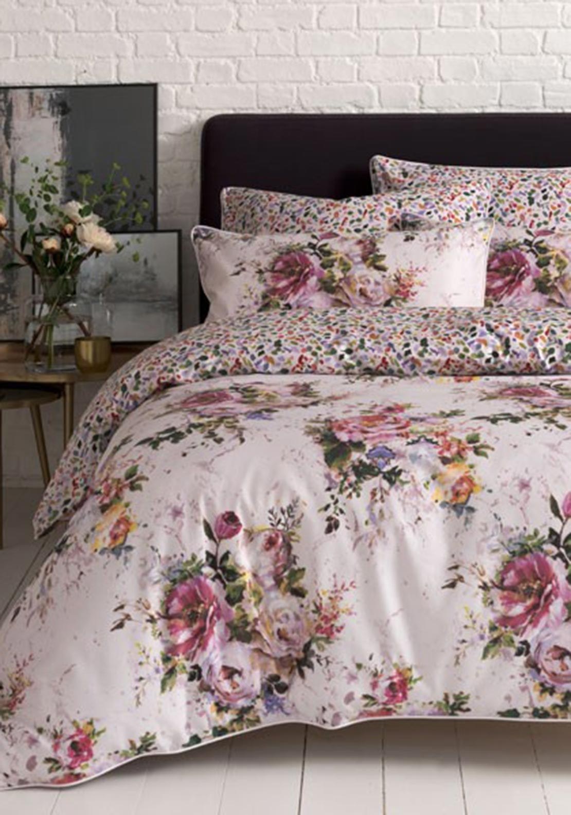 barn thistle print floral organic cover pin duvet bedding sham pottery