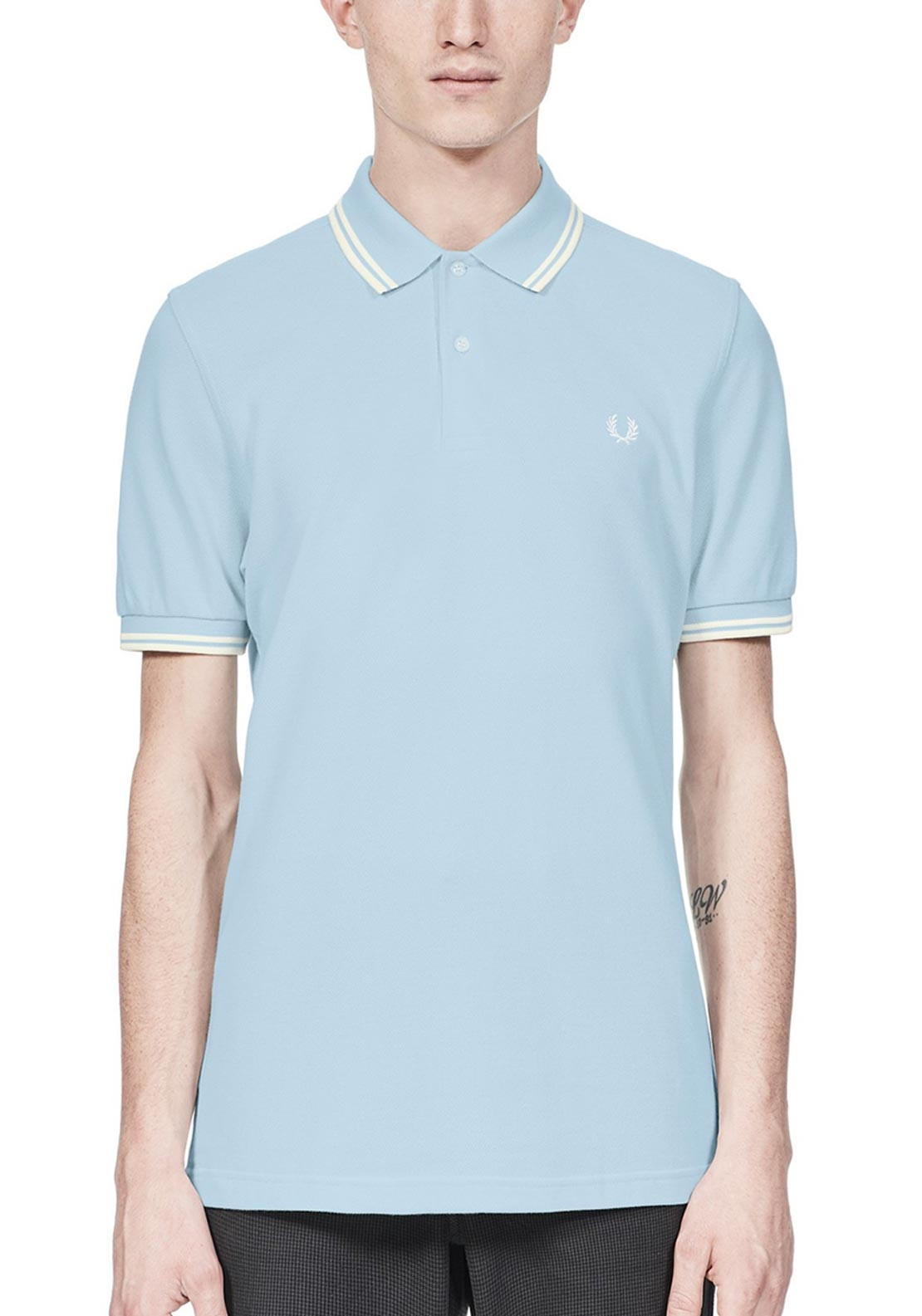 f943f174e Fred Perry Twin Tipped Polo-Shirt, Light Blue | McElhinneys
