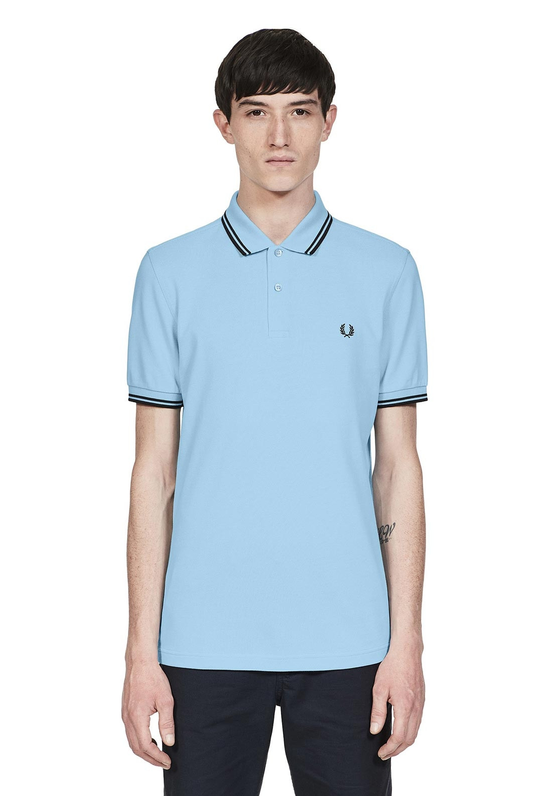 38fa88a20 Fred Perry Twin Tipped Polo-Shirt, Light Blue. Be the first to review this  product