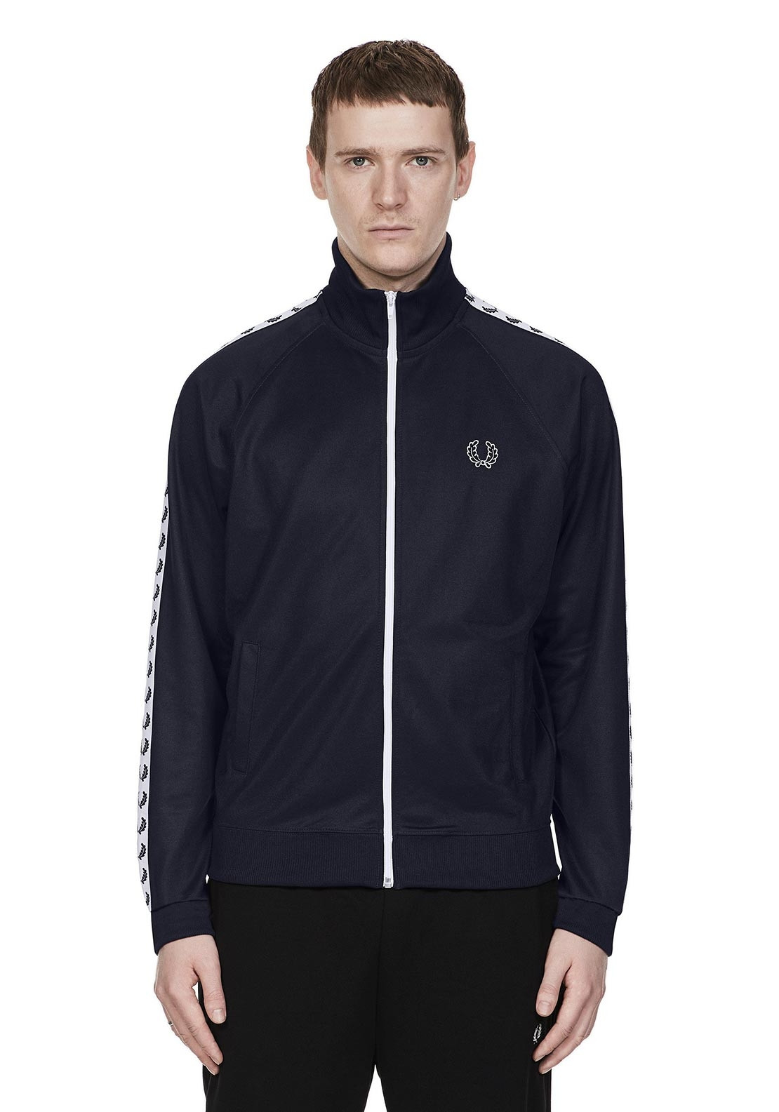 Fred Perry Laurel Taped Track Jacket, Navy