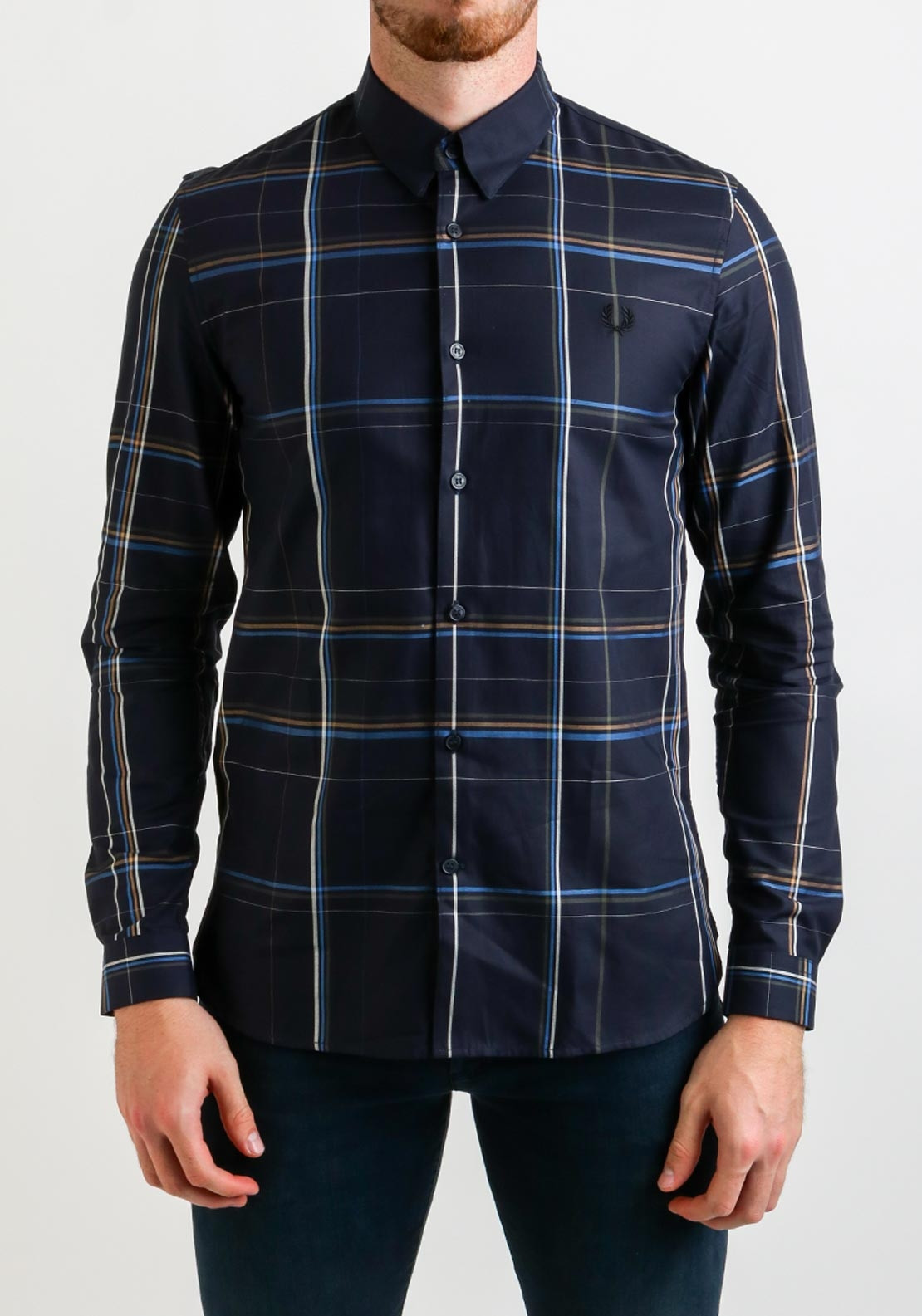 e639e4c8 Fred Perry Enlarged Check Shirt, Navy. Be the first to review this product