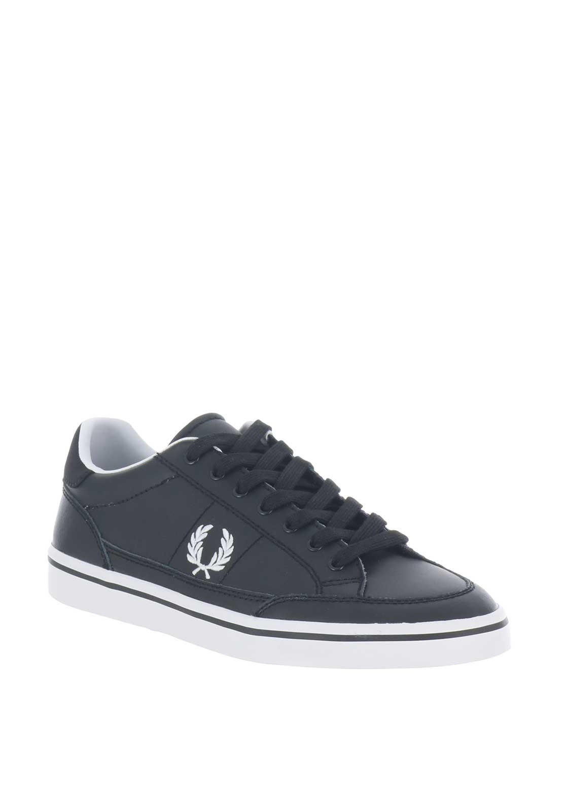 04274228927fe Fred Perry Deuce Leather Trainers, Black