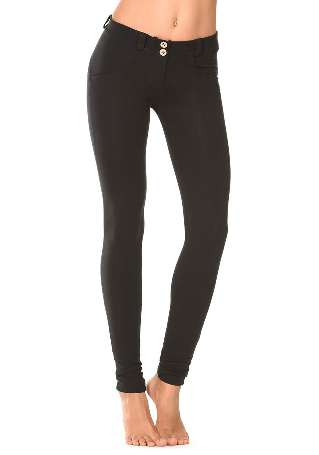 Freddy WR.UP® Midrise Skinny Trousers, Black