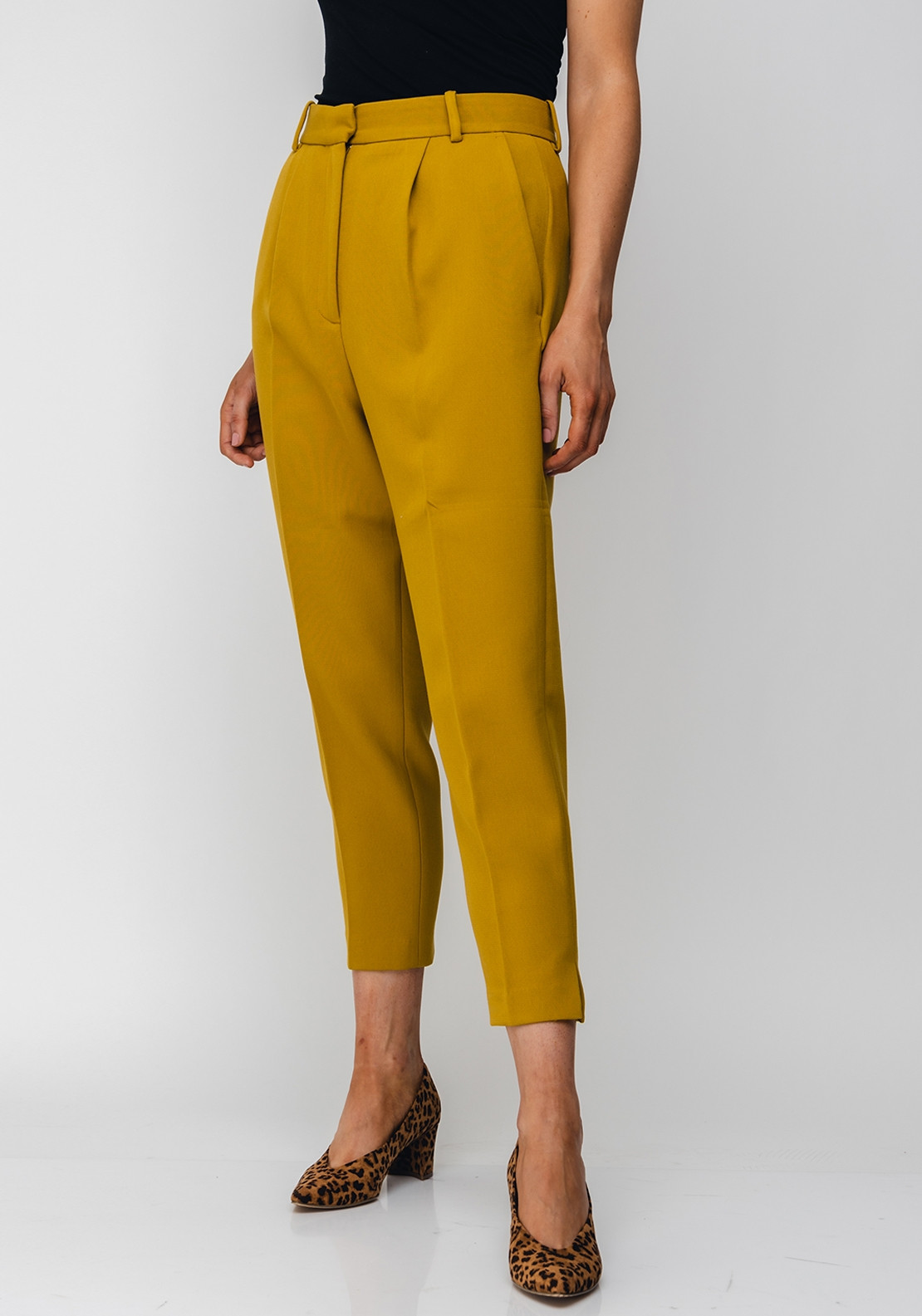 French Connection AlIdo Sundae Suit Trousers, Mustard