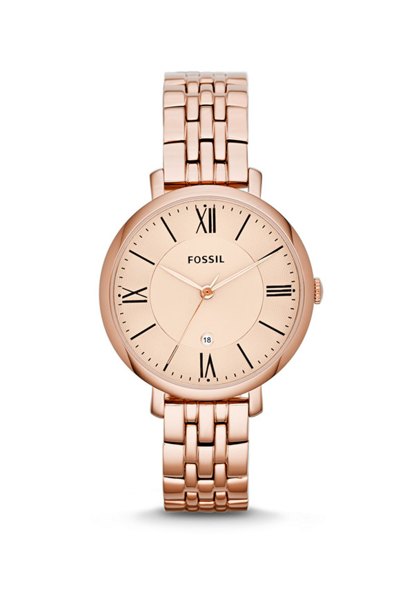 Fossil Ladies Jacqueline Stainless Steel Watch - Rose