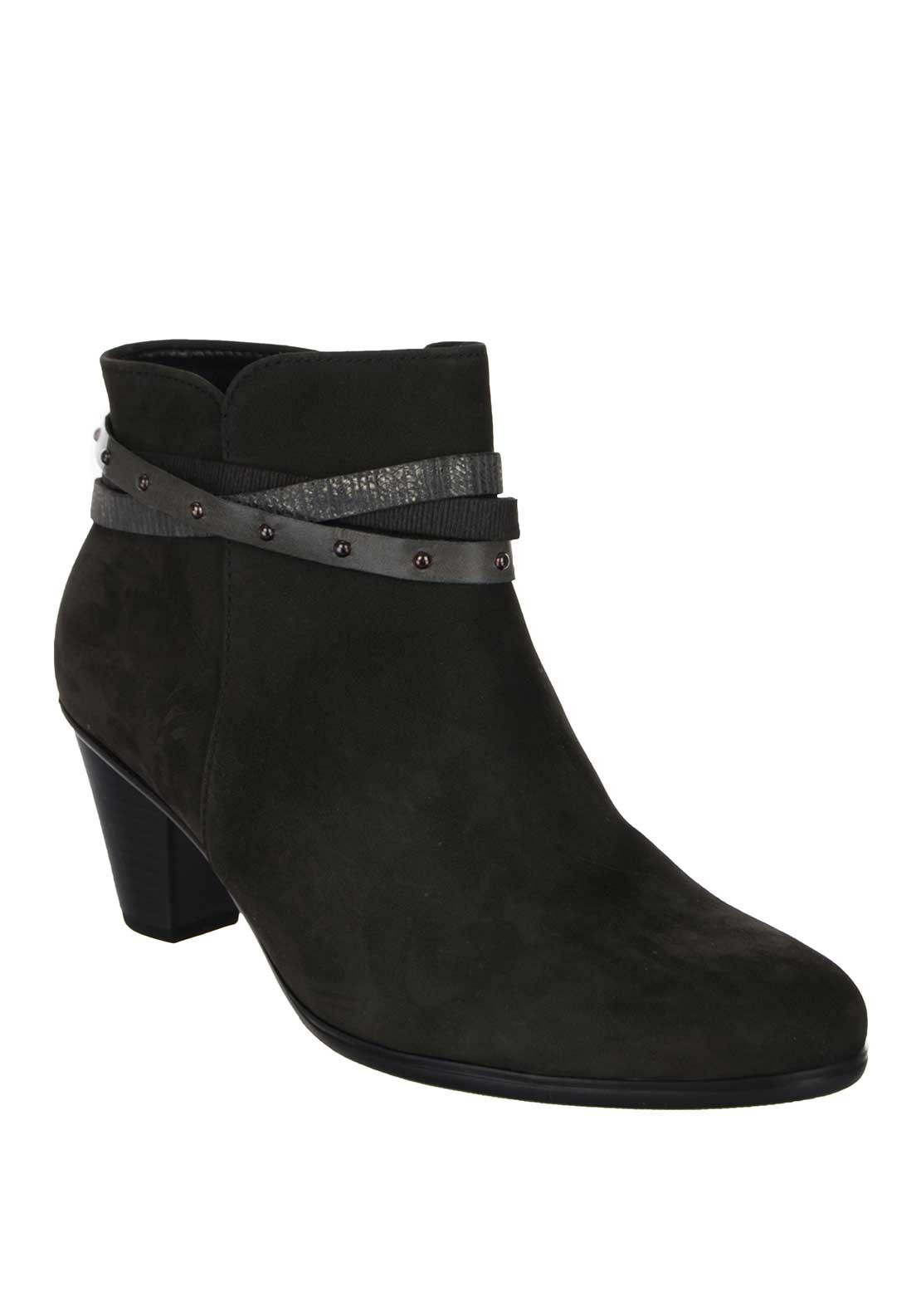 Gabor Solero Womens Ankle Boot, Charcoal Grey