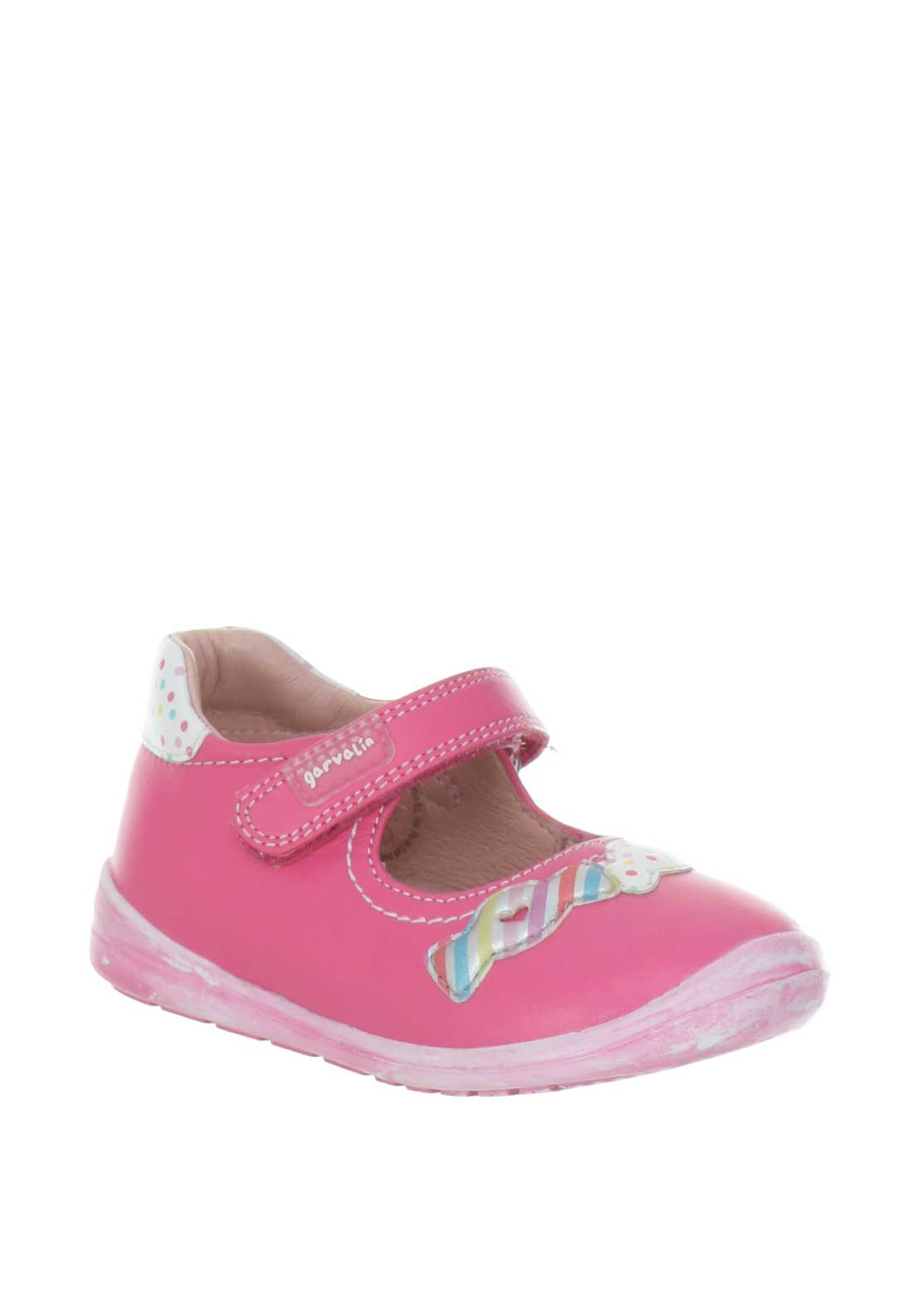 Garvalin Baby Girl Velcro Strap Pink Shoes